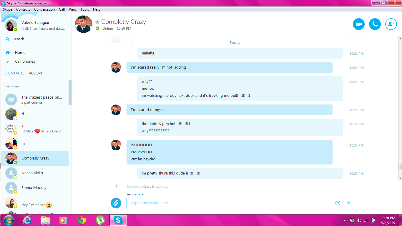 My conversation on skype with a couple from america 3